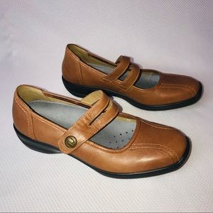 Hotter Mary Janes Shoes Brown Leather Karen Size 9